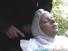 Slutty french nun fucked outside porno part3